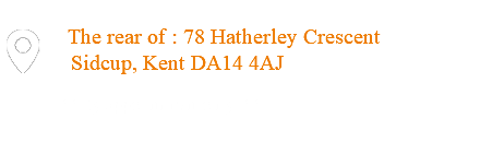  The rear of : 78 Hatherley Crescent Sidcup, Kent DA14 4AJ ** By appointment only **